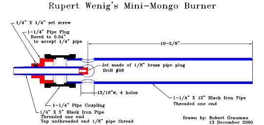 minimongo burner design - Homemade Propane Forge Design